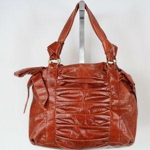 Cynthia Rowley Brown Ruched Shoulder Bag
